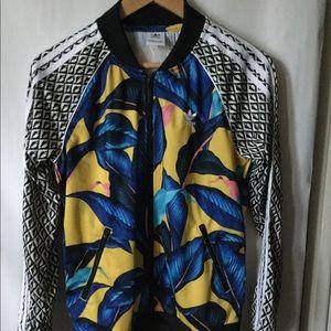 Adidas flora print jacket